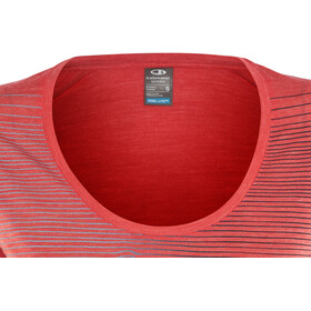 Icebreaker W's Sphere Cool Relief SS Scoop Shirt poppy red hthr